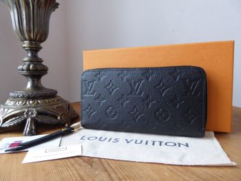 Louis Vuitton Continental Zippy Purse Wallet in Empreinte Noir