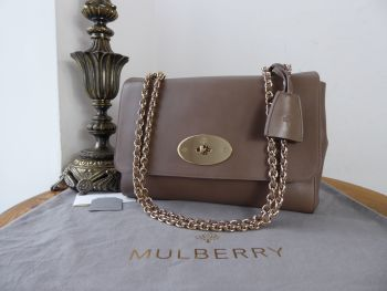 Mulberry Medium Lily in Taupe Soft Tan Leather with Shiny Gold Hardware