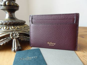 Mulberry Heritage Credit Card Slip Holder in Oxblood Small Classic Grain - SOLD