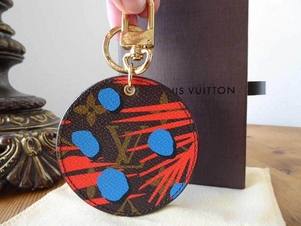 Louis Vuitton Limited Edition Monogram Canvas Jungle Dots Palm Poppy Denim