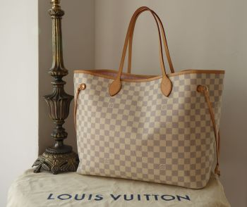 Louis Vuitton Neverfull GM in Damier Azur GM with Rose Ballerine Lining - SOLD