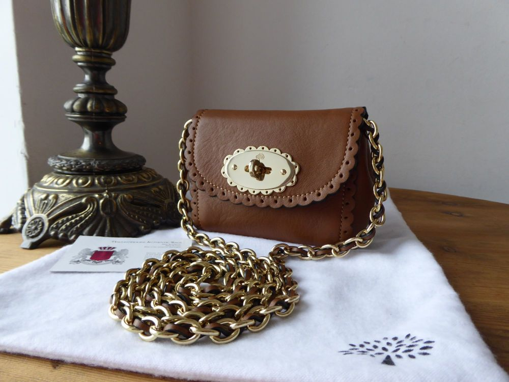 Mulberry Mini Cookie Lily in Oak Soft Matte Leather with Shiny Gold Hardwar