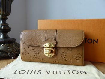 Louis Vuitton Iris Continental Flap Wallet in Caramel Mahina Leather - SOLD