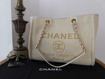 Chanel Deauville Tote in Sparkle Beige Boucle Chenille Tweed -  SOLD