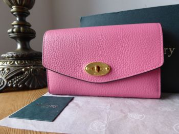 Mulberry Medium Darley Purse Wallet in Geranium Pink Small Classic Grain - SOLD