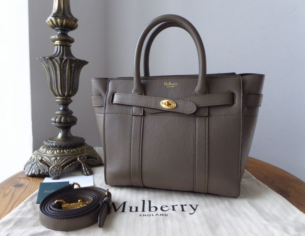 Mulberry Mini Zipped Bayswater in Clay Small Classic Grain