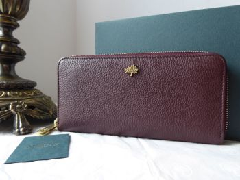 Mulberry Tree Zip Around Continental Purse Wallet in Oxblood Small Classic Grain - SOLD