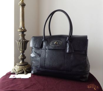 Mulberry Holiday Bayswater in Nightshade Blue Spongy Patent Leather