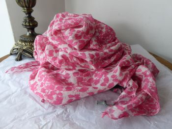 Mulberry Inky Animal Print Large Scarf Wrap Shawl in Peony Pink 100% Modal