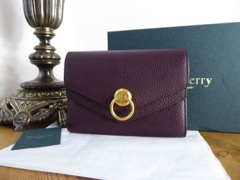 Mulberry Harlow Medium Purse Wallet in Oxblood Small Classic Grain  - SOLD