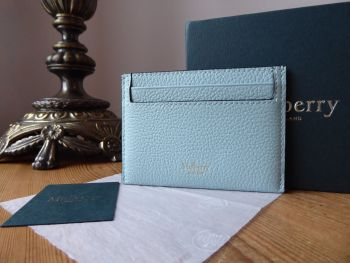Mulberry Heritage Credit Card Slip Holder in Light Antique Blue Small Classic Grain - SOLD