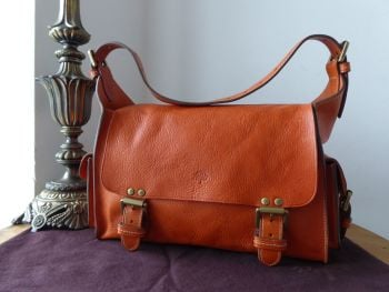 Mulberry Vintage Effie Satchel in Ginger Darwin Leather