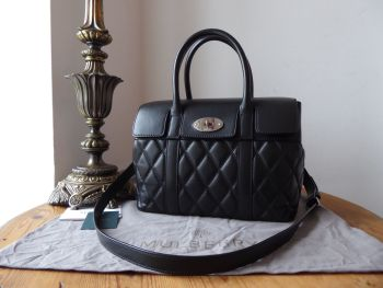 Mulberry Small Bayswater in Black Quilted Smooth Calf with Brushed Silver Hardware - SOLD