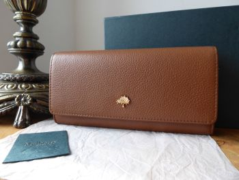 Mulberry Tree Continental Purse Wallet in Oak Small Classic Grain - SOLD