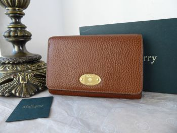 Mulberry Plaque Medium French Purse Wallet in Oak Grain Vegetable Tanned Leather - New*