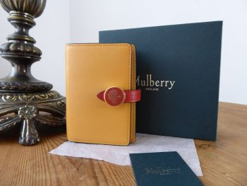 Mulberry Tree Tab Card Holder Wallet in Maize Yellow Silky Calf - SOLD