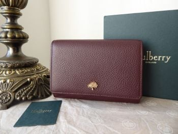 Mulberry Tree French Purse Wallet in Oxblood Small Classic Grain - SOLD
