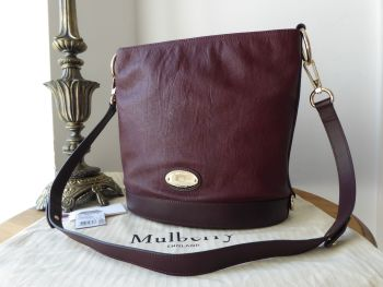 Mulberry Jamie Bucket Bag in Oxblood Washed Calf with Felt Liner - SOLD