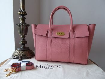 Mulberry Bayswater with Strap in Macaroon Pink Small Classic Grain Leather - SOLD