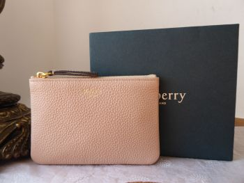 Mulberry Small Zipped Pouch Card Case Coin Purse in Rosewater Small Classic Grain  - SOLD