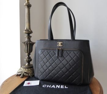 Chanel Business Affinity Large Shopping Tote in Black Caviar with Pale Gold Hardware - SOLD