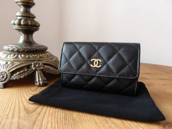 Chanel Classic Flap Card Coin Purse in Black Caviar with Gold Hardware- SOLD