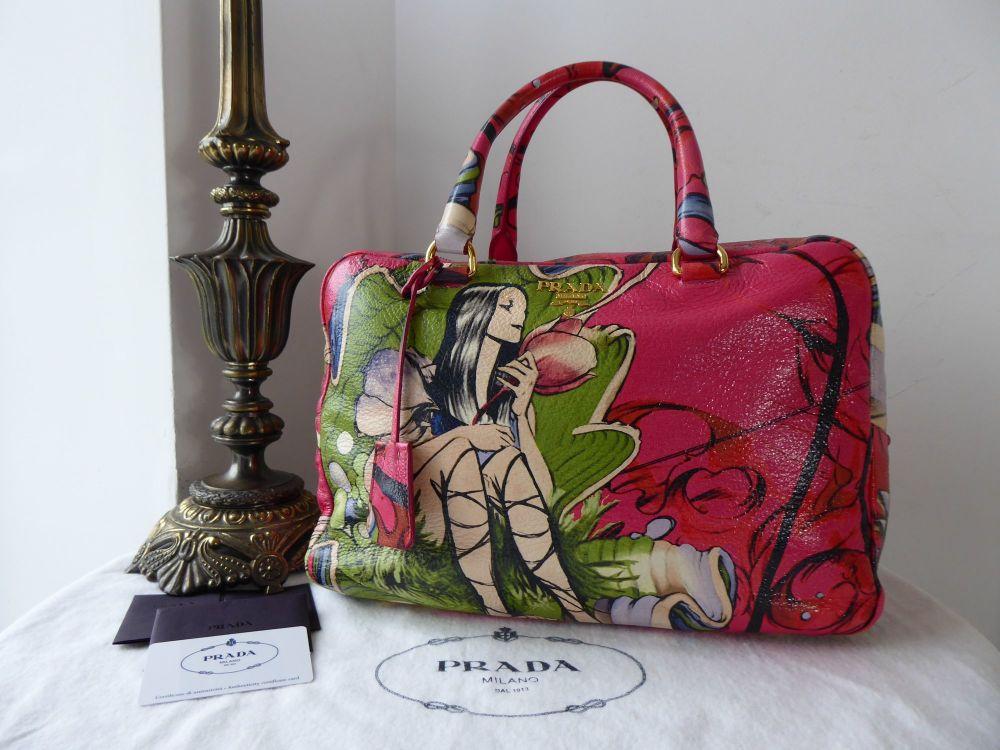 Prada Limited Edition Fairies Bauletto in Cervo Lux Peonia