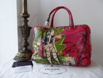 Prada Limited Edition Fairies Bauletto in Cervo Lux Peonia