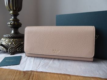 Mulberry Continental Flap Long Wallet Purse in Rosewater Small Classic Grain - SOLD