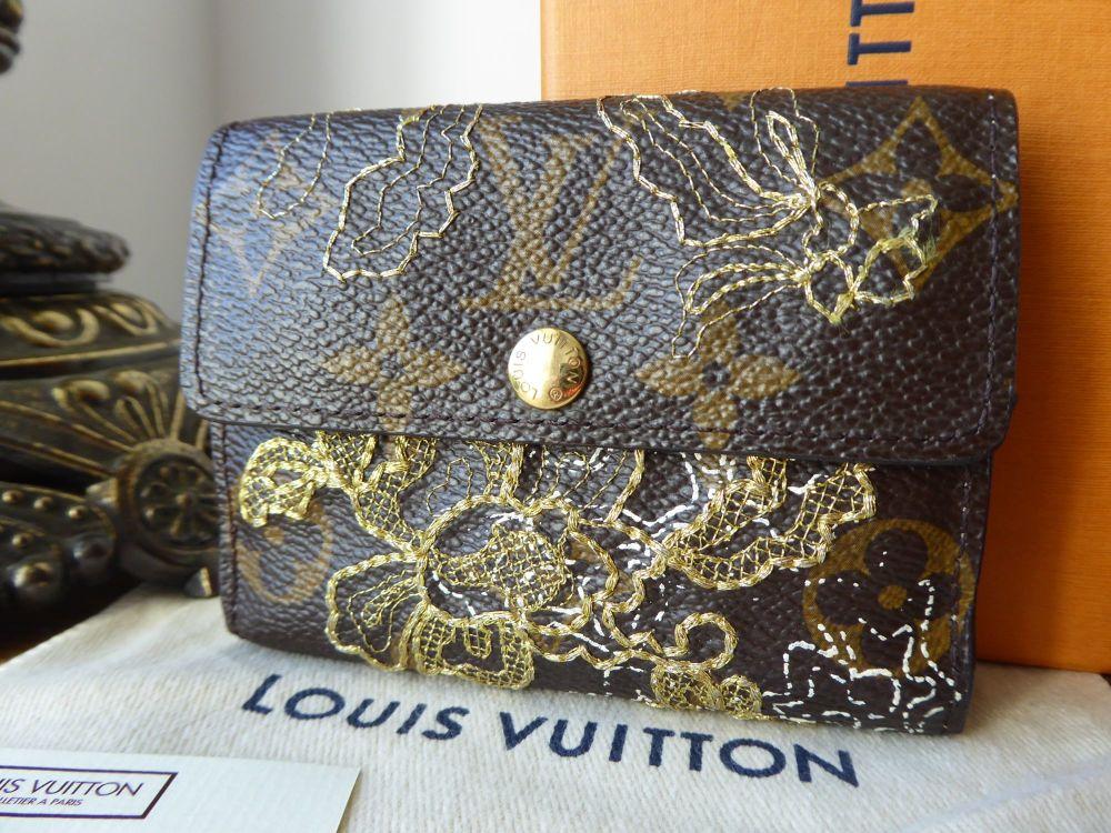 Louis Vuitton Limited Edition Lace Dentelle Ludlow Card Coin Purse