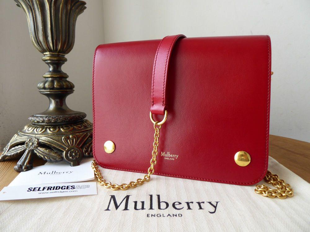 Mulberry Clifton Shoulder Bag in Scarlet Crossboarded Calf