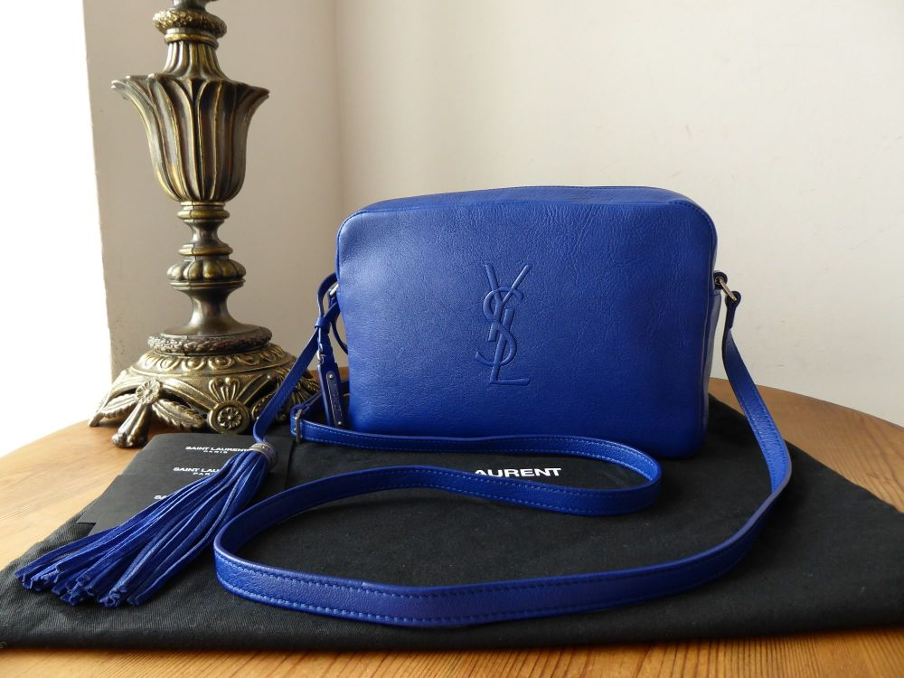 Saint Laurent YSL Lou Camera Bag in Flash Blue Calfskin