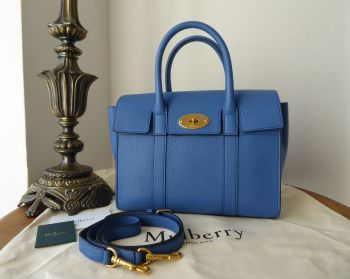 Mulberry Small Bayswater in Porcelain Blue Small Classic Grain