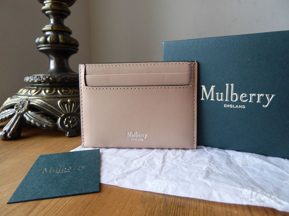 Mulberry Credit Card Slip Holder in Rosewater Smooth Calf  - New*