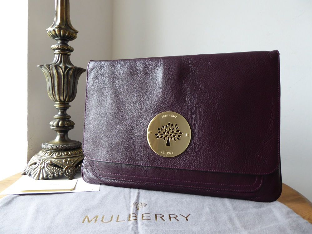 Mulberry Daria Laptop and Document Sleeve Case Holder in Oxblood Soft Spong