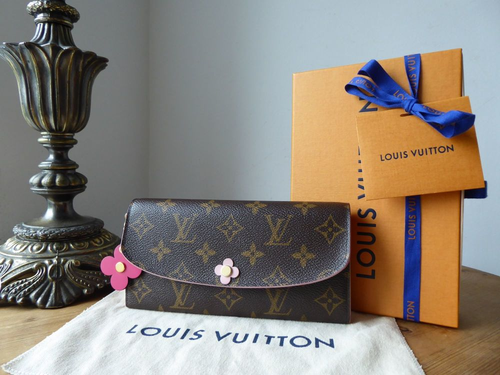 Louis Vuitton Blooming Flowers Emilie Long Continental Wallet Purse in Mono