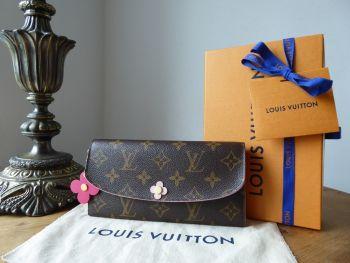Louis Vuitton Blooming Flowers Emilie Long Continental Wallet Purse in Monogram