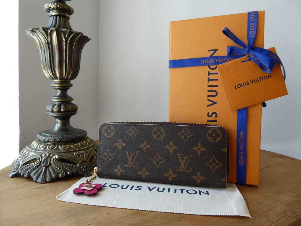 Louis Vuitton Blooming Flowers Clemence Continental Long Wallet Purse in Mo