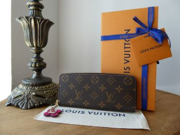 Louis Vuitton Blooming Flowers Clemence Continental Long Wallet Purse in Monogram