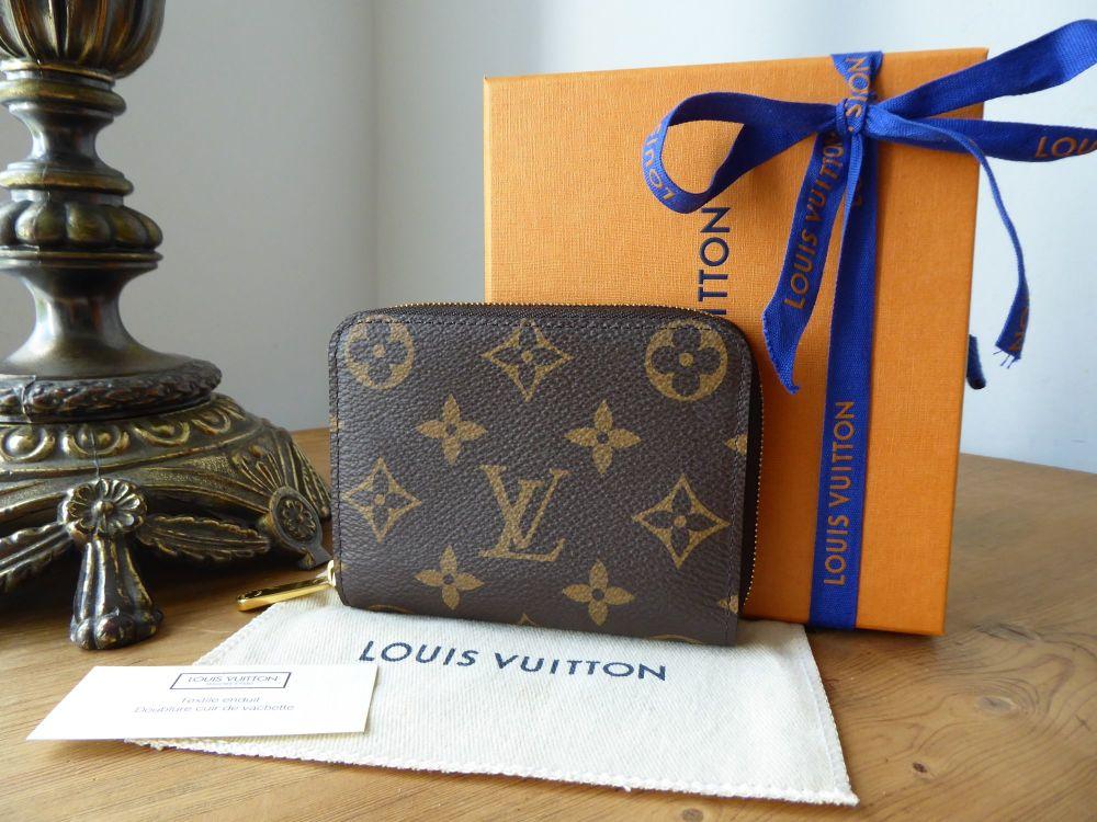 Louis Vuitton Zippy Compact Coin Card Purse Wallet in Monogram