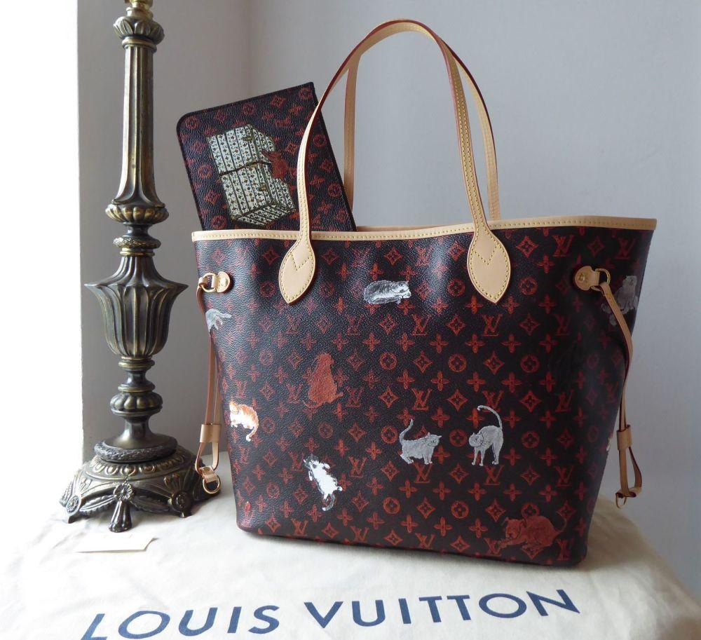Louis Vuitton Limited Edition Grace Coddington Catogram Neverfull MM New