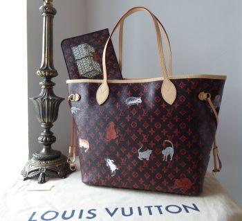 Louis Vuitton Limited Edition Grace Coddington Catogram Neverfull MM in Monogram Vachette -  New
