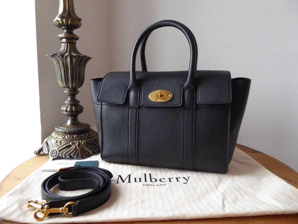 Mulberry Small Bayswater in Black Small Classic Grain