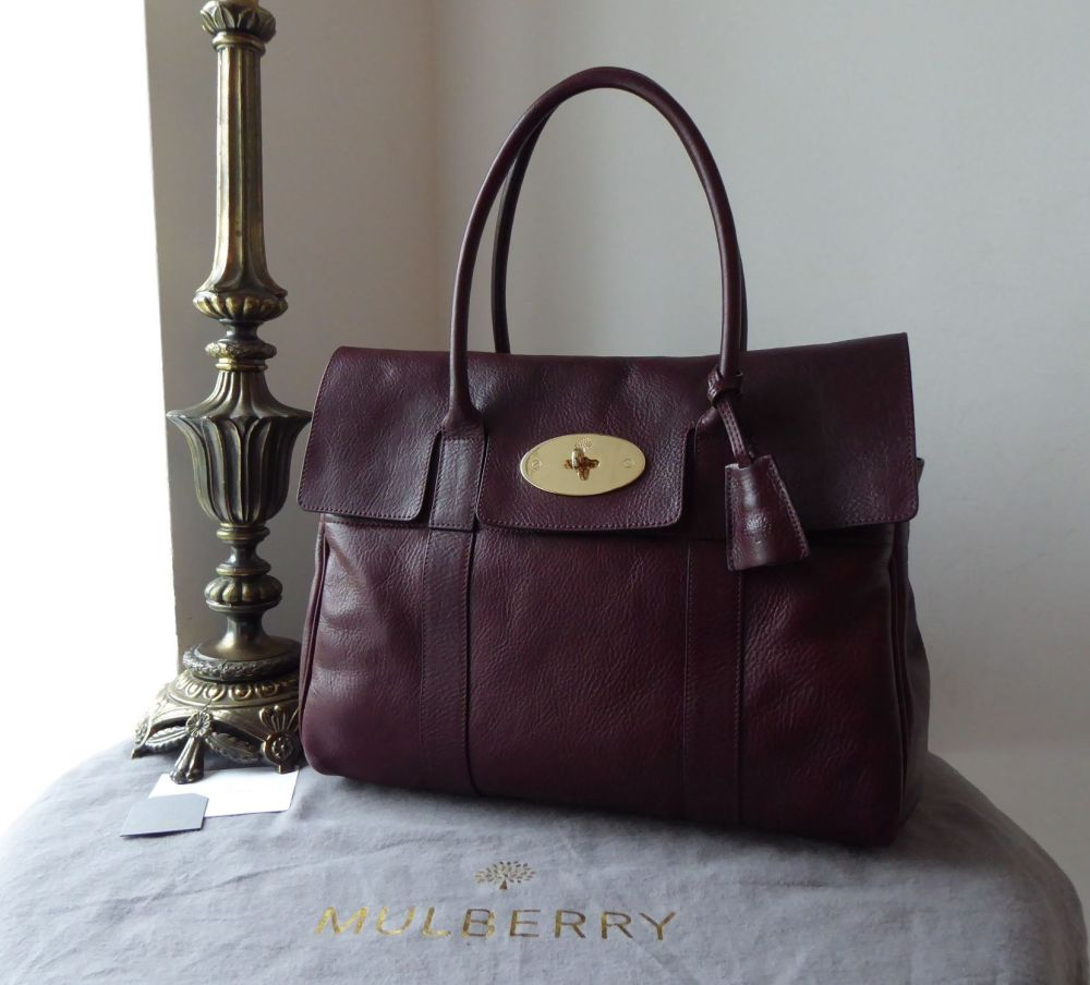 Mulberry Classic Heritage Bayswater in Oxblood Coloured Vegetable Tanned Le