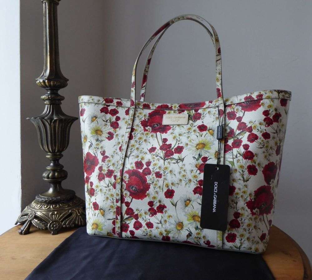Dolce &  Gabbana 'Poppies and Daisies' Shopper Tote in Floral Dauphine Prin