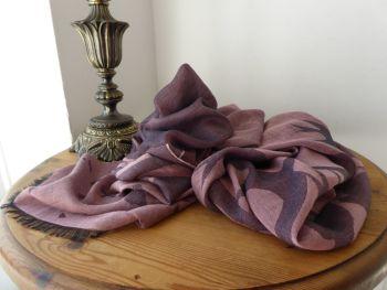 McQ Alexander McQueen Swallows Scarf Wrap in Dusky Rose Cotton Modal Mix
