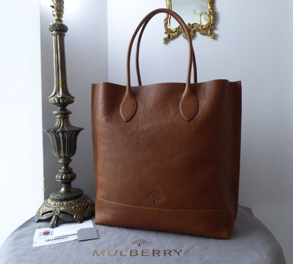 Mulberry Blossom Tote in Oak Natural Vegetable Tanned Leather & Zipped Felt