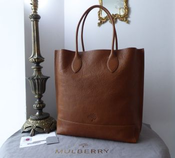 Mulberry Blossom Tote in Oak Natural Vegetable Tanned Leather & Zipped Felt Liner