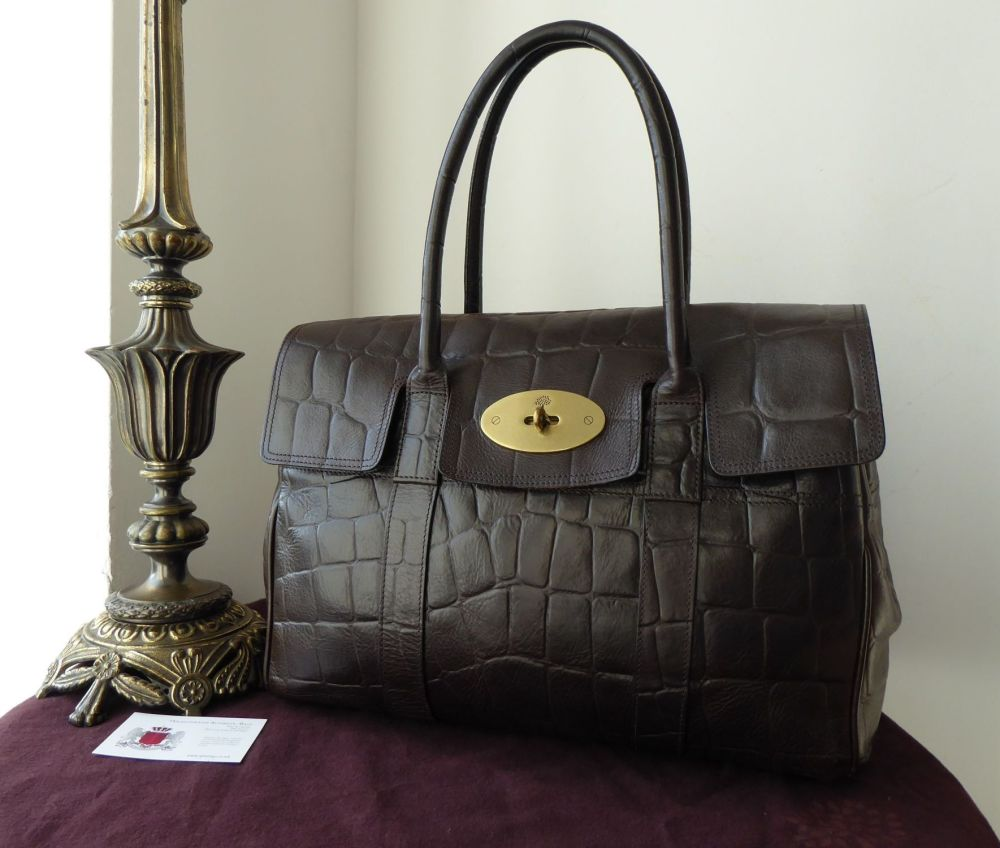 Mulberry Classic Bayswater Special in Chocolate Printed Leather