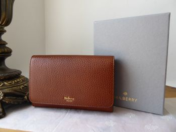 Mulberry Medium Continental Wallet Purse in Oak Grained Vegetable Tanned Leather